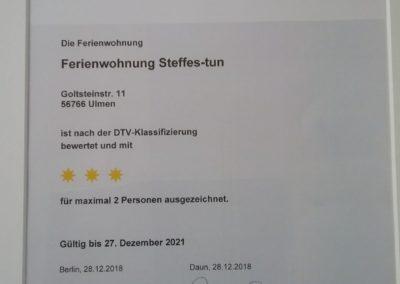 Fewo-Ulmen Zertifizierung Drei Sterne